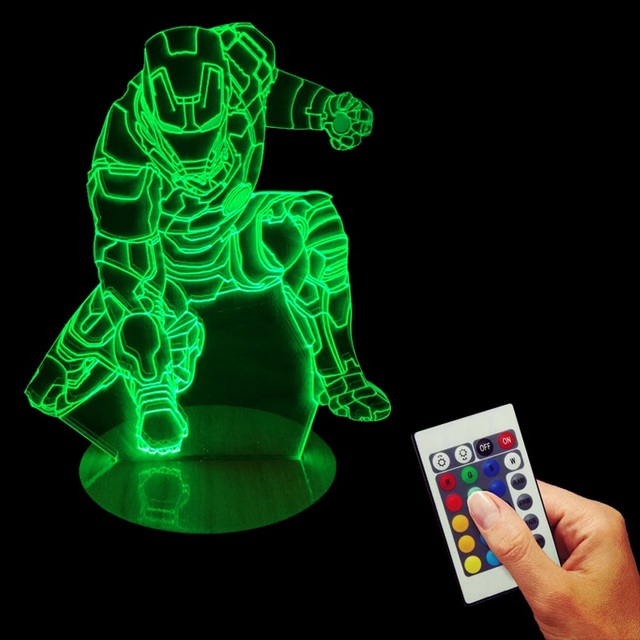 Iron man 3D Illusion Desk Lamp