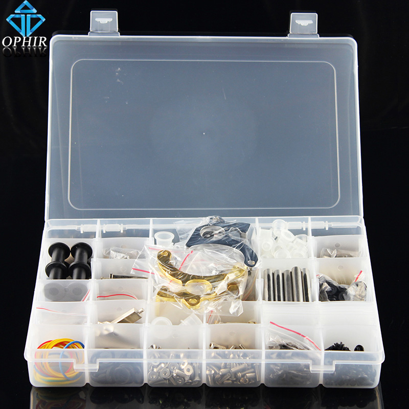 OPHIR Free Shipping New 898pcs Pro DIY Parts Accessories Kit for Tattoo Machine Gun Rebuild & Maintain#TA011 ophir 0 2