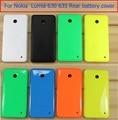 100% original nueva cubierta trasera para nokia 630 635 trasero tapa de la batería para nokia lumia 635 630 caso de la contraportada + película de la pantalla 1x envío