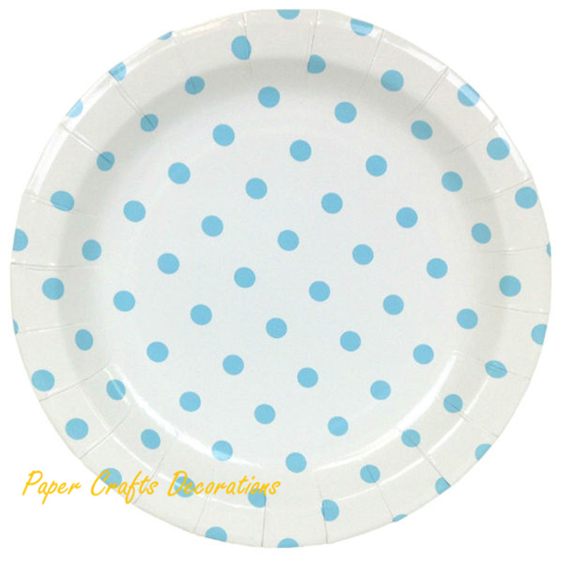 36pcs/lot 9inch Baby Blue Polka Dot Party Round Paper Plates Christmas Tableware Party Supplies-in Disposable Party Tableware from Home \u0026 Garden on ...  sc 1 st  AliExpress.com & 36pcs/lot 9inch Baby Blue Polka Dot Party Round Paper Plates ...
