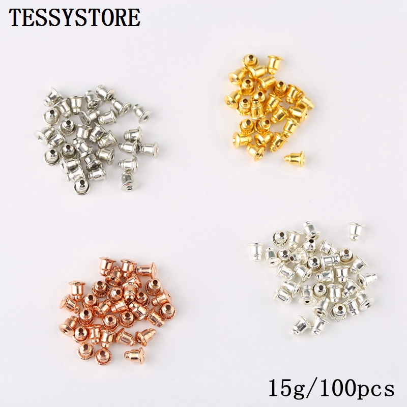 1000pcs Multi-style Earring Back DIY Ear Plug Post Nuts Clear Soft Silicone Rubber Earring Backs For Jewelry Finding Accessories