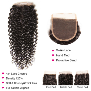 Image 3 - Top Sale Cambodian Curly Bundles with Closure Natural Color Remy Human Hair 3 Bundles with Closure Longqi Hair Vendors Fast Ship