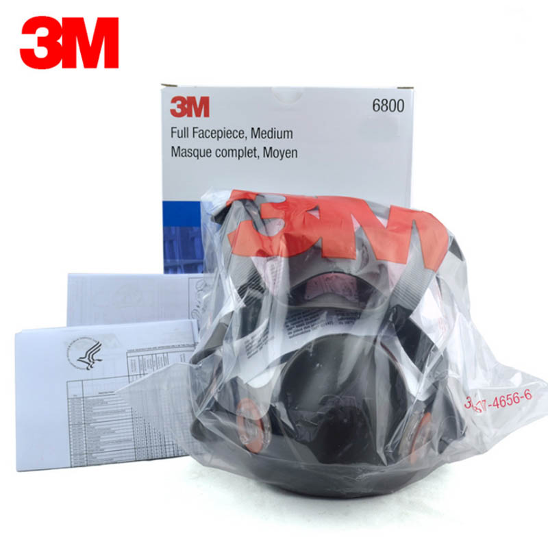 Original 3M 6800 Painting Spraying Respirator Gas Mask Industry Chemcial Full Face Gas Mask Medium 15 in 1 suit painting spraying 3m 6200 half face gas mask respirator chemcial industry anti dust work respirator mask