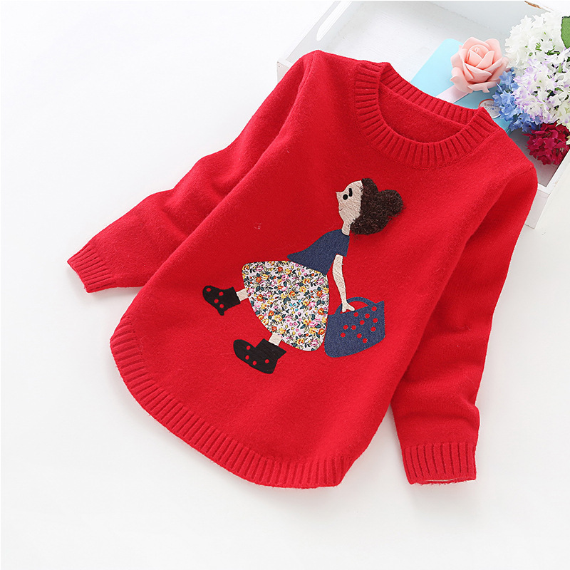 2016 new girls' sweaters winter children clothes 4-14 years girls sweater 8001 2018 autumn and winter new girls sweaters children clothes 4 14 years girls sweater b8001