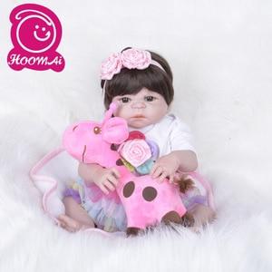 55 CM Full Vinyl Reborn Baby Doll Toys for Kids Reborn Full Silicone Newborn Doll Boneca Reborn Silicone Completa Menin