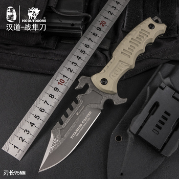 HX OUTDOORS Tactical Fixed Knife Camping Hunting knives 440C Steel Straight Rescue Survival Knives Outdoor Tool Edc Gift for Man