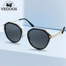 VEGOOS Round Sunglasses for Women Polarized UV Protection Fashion Shades Beach Traveling Sun Glasses Gafas de sol Mujer 6135