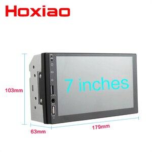 """Image 3 - Reproductor Multimedia con pantalla táctil capacitiva para coche, reproductor con radio 2 DIN, Mirror Link, pantalla táctil de 7 """", MP5, Bluetooth, USB, TF, FM, cámara"""