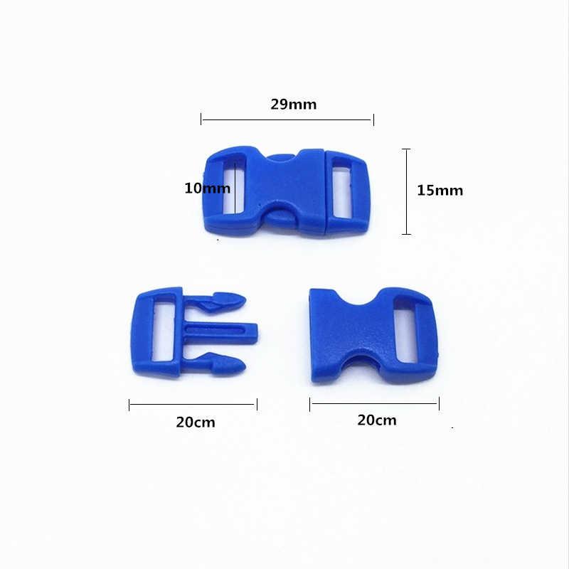 """10 stuks 3/8 """"(10mm) kleurrijke Gebogen Side Release Gesp Gespen Voor Paracord Armband Rugzakken Kleding Tassen Onderdelen"""