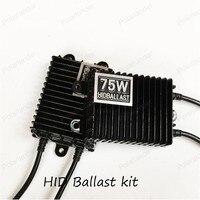 Hid xenon ballast 75 W DC mince Numérique hid ballast blocs électroniques ballast HID kits xénon H3 H4 HB3 9005 HB4 9006 6000 K 8000 K