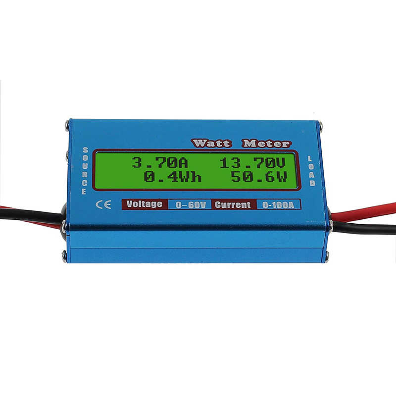 Фото Цифровой тестер емкости батареи Панель солнечных батарей измеритель анализатор