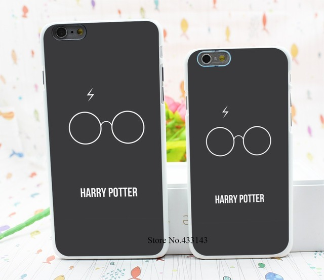 Dirt Shock Proof Harry Potter Glass White Design Black Style Hard White Cover Skin Back Case for iPhone 6 6s 6 plus
