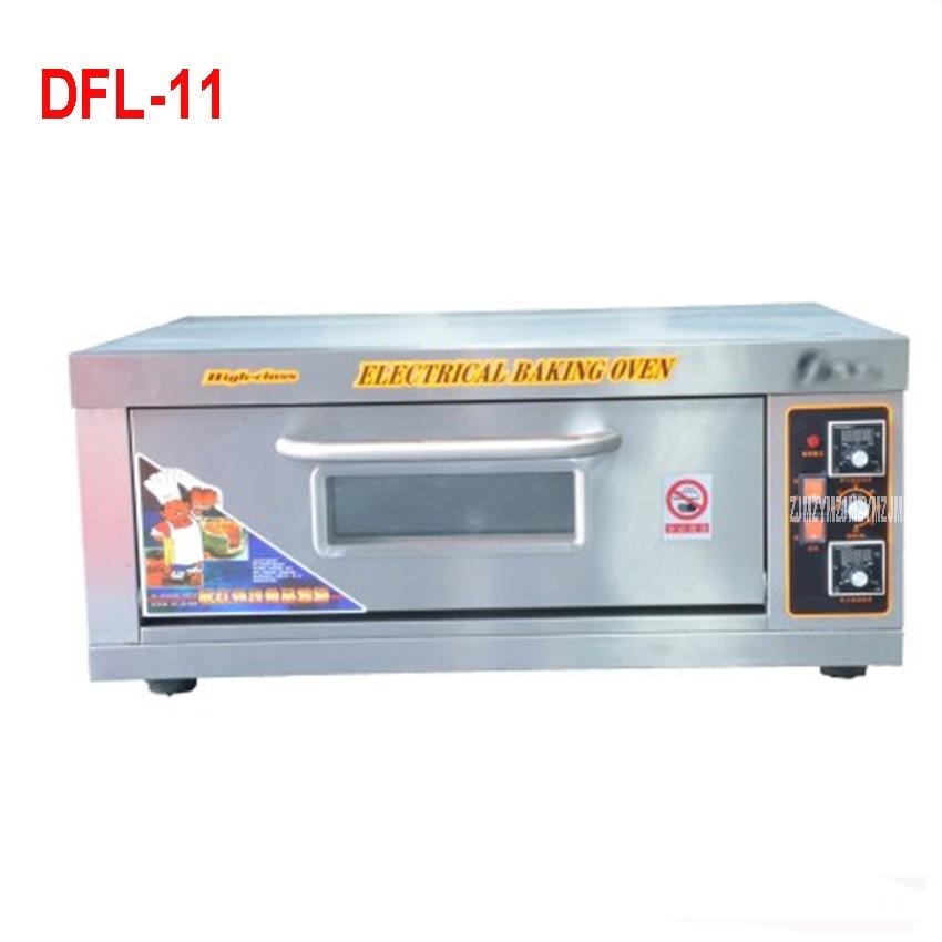 DFL-11 électrique en acier inoxydable maison/thermomètre Commercial four à Pizza unique/Mini four de cuisson/pain/gâteau grille-pain four 4800 W