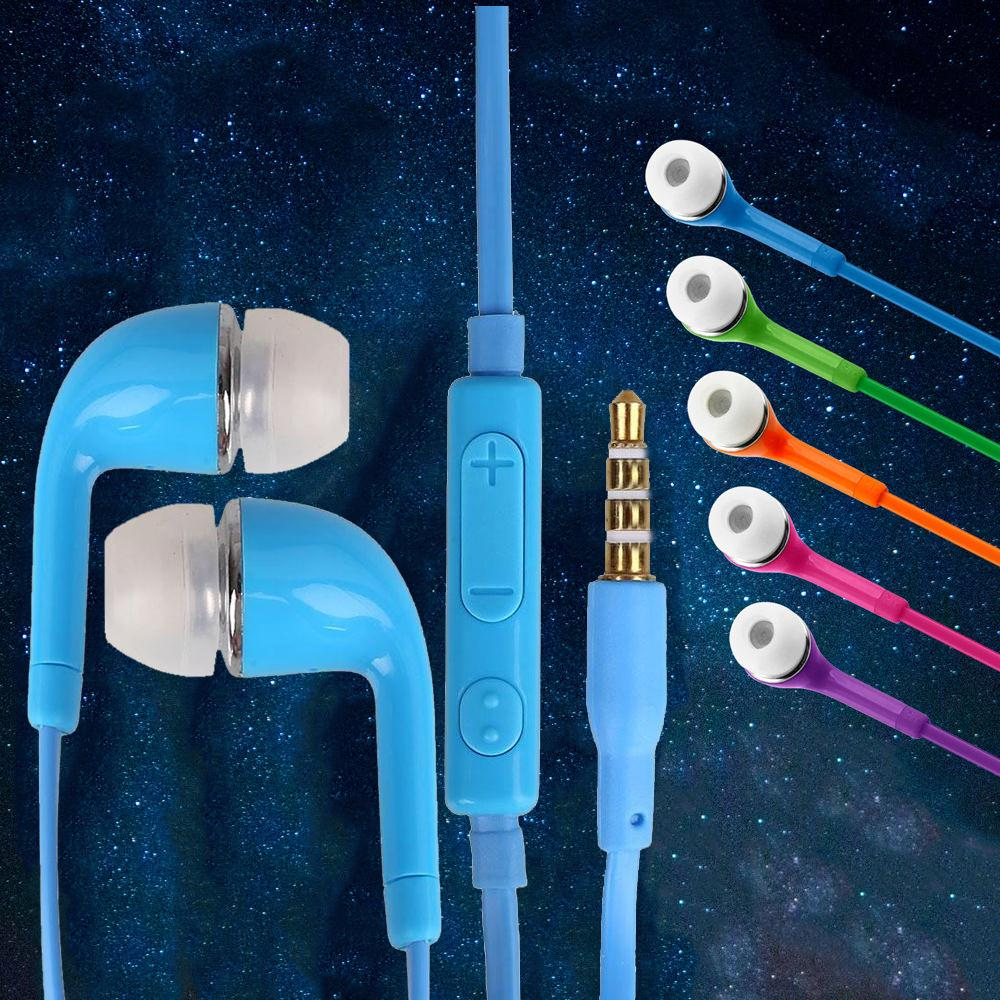 Colorful 3.5mm In-Ear Headset Headphoe Stereo Volume Control with Mic Earphone for Galaxy S6 Note MP3 MP4 PC Laptop yl in ear earphones w mic line control for samsung galaxy n7100 note 3 n9000 pink 112cm