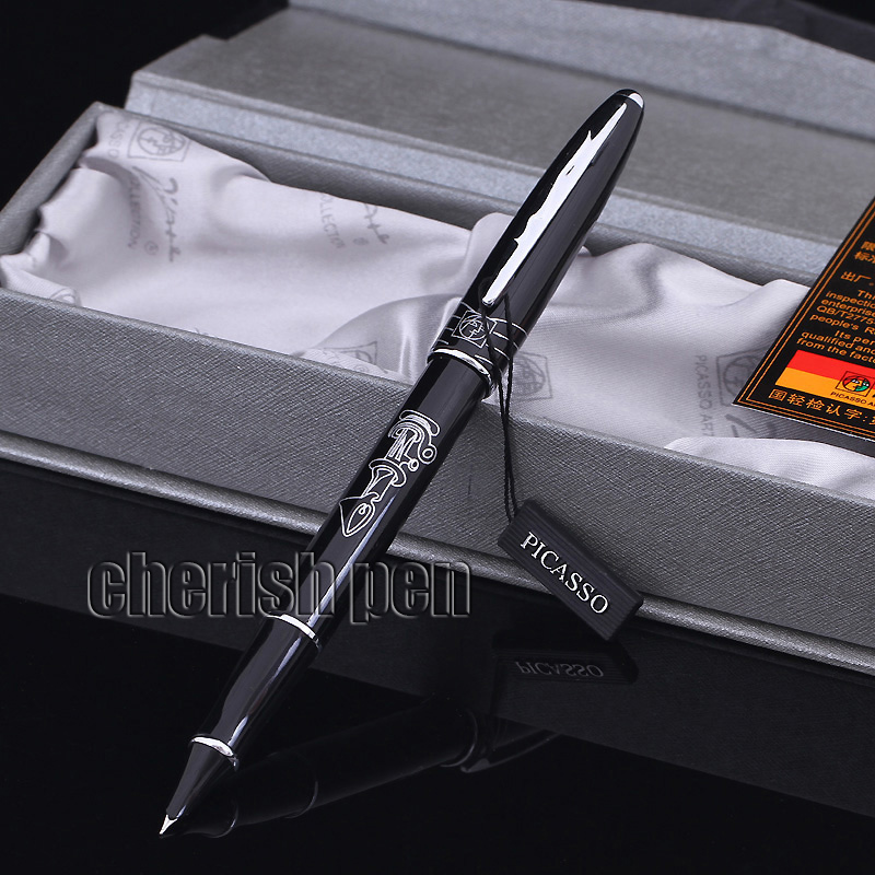 Wholesale Picasso 606 Luxury 0.38 Fine Ink Financial pen /Metal/Brand/Gift/Calligraphy Fountain Pen Free Shipping Pens parker 88 maroon lacquer gt fine point fountain pen