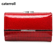 short wallet women genuine leather mini wallets red ladie wallets and purses luxury brand real leather