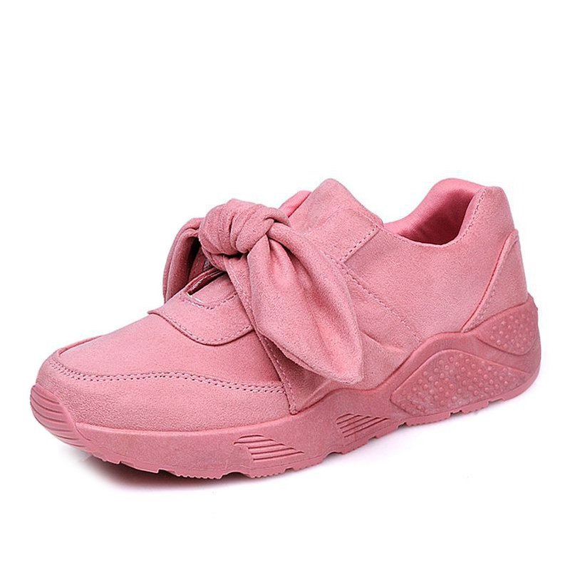 Women sneakers breathable vulcanize shoes women 2018 autumn platform sneakers fashion sneakers suede pink casual shoes