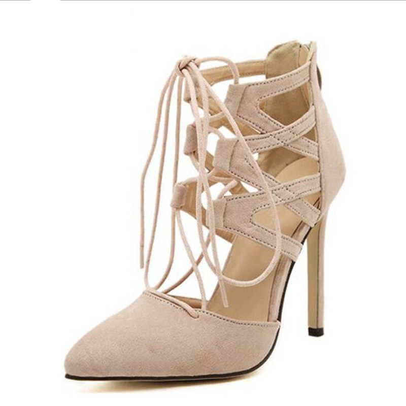 Sexy Shoes New High Heels Platform Lace Up Women Pumps Ankle Strap Spring Summer Women's Shoes Thin Heels big size 32 44 ankle strap patch color super hoof high heels platform shoes woman spring summer pumps party dress shoes sexy