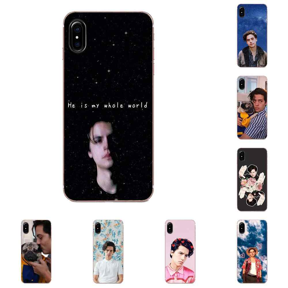 Cole Sprouse Moley Para Apple iPhone 4 4S 5 5C 5S SE 6 6 S 7 8 Plus X XS max XR Macio Sacos Casos