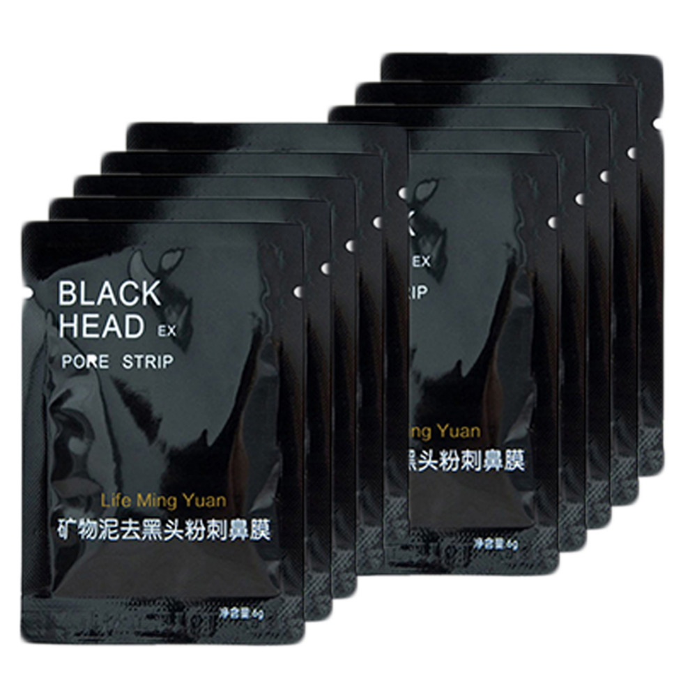 10pcs/pack Natural Minerals Face Nose Skin Care Black Head Removal Deep Facial Cleansing Mask Pore Strip Cleanser Beauty Product
