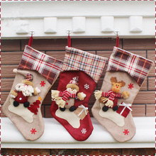 46*26.5*22.5cm Large Size New Year Christmas Stockings Socks Santa Claus Candy Gift Bag Xmas Tree Decor Festival Party Ornament
