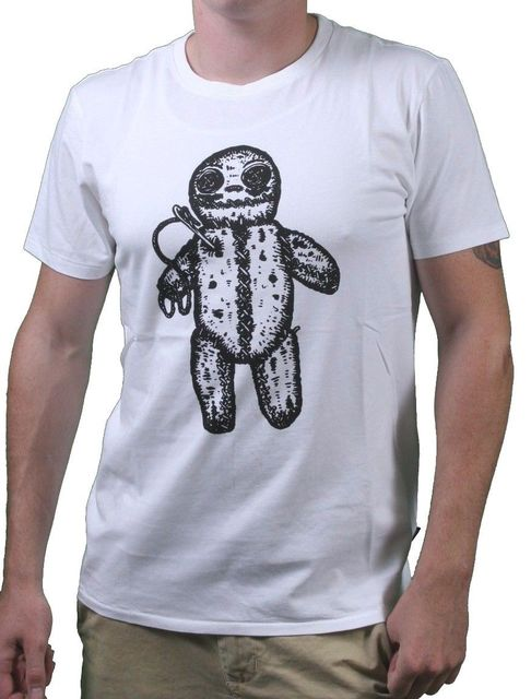 WeSC We Are Superlative Conspiracy Mens White Voodoo Doll Revenge T-Shirt  NWT custom t shirts t shirt design Ifunny cool designs c4c1a33f3c19a