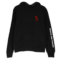 People Are Poison Rose Sleeve Print Hoodie Sweater Sweatshirt Black Tumblr Inspired Aesthetic Pale Pastel Grunge