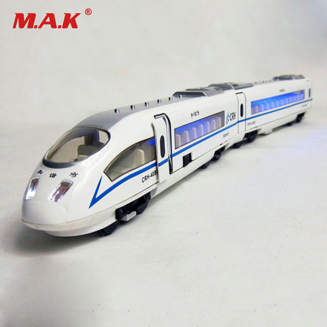Cheap Toys for BoysTrain Model Diecast Hexie CRH Chinese Railway High Speed Pull Back Train Head/body Connected with Light Sound