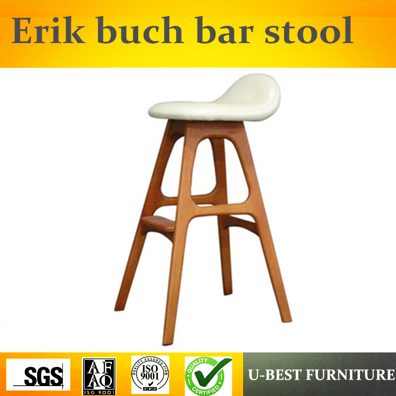 Free Shipping U-BEST Counter Stool Replica Erik Buch Bar Stool,modern Erik Buch Stand Bar Stool Fabric Color Stools