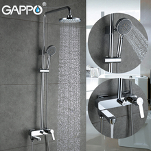 Tap Faucet Shower-Mixer Mixer-Head Wall-Mounted-Set GAPPO Bathroom Brass Rain