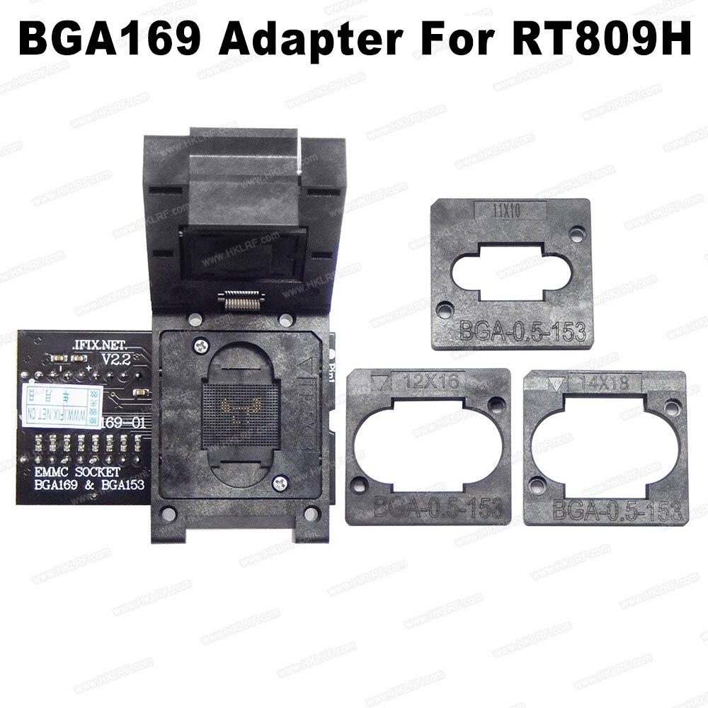 RT BGA169 01 V2 2 EMMC Seat EMCP153 EMCP BGA169 Socket BGA Adapter For RT809H Programmer