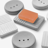 Concrete soap box silicone mold creative hotel household supplies mold personality cement tray mold gypsum jewelry plate mo