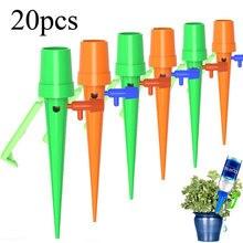 20 sztuk/zestaw stożek ogrodowy Lazy Control regulowane automatyczne nawadnianie zestawy roślin kwiat Waterers System nawadniania butelki Drop Ship