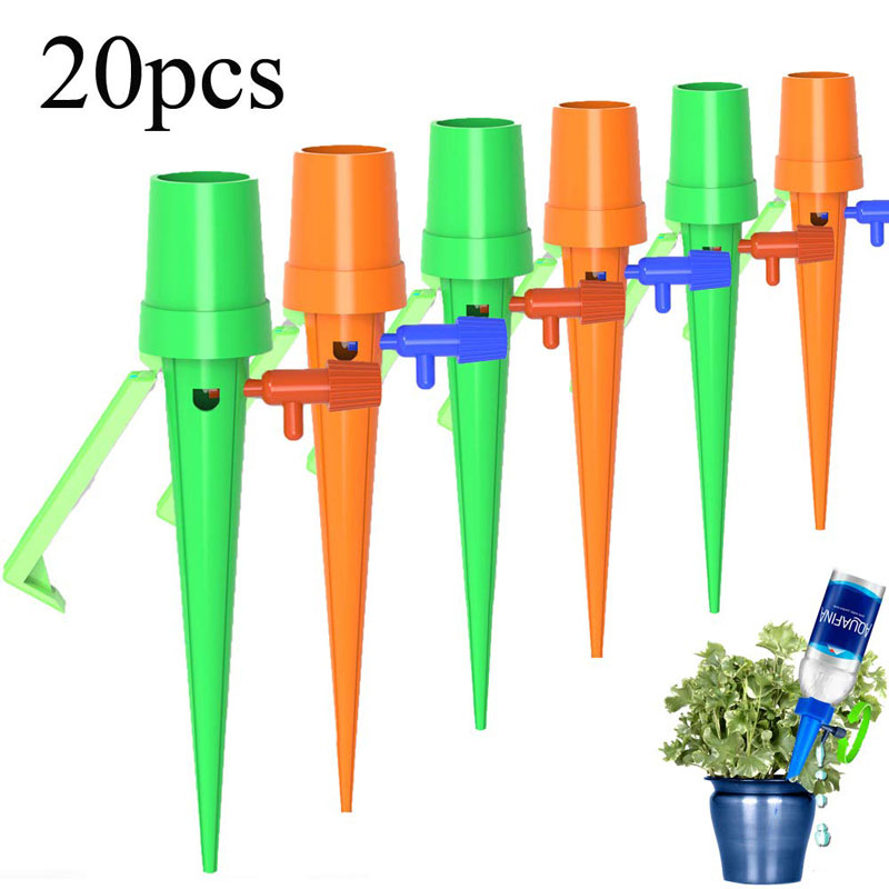 20Pcs/set Garden Cone Lazy Control Adjustable Automatic Watering Kits Plant Flower Waterers Bottle Irrigation System Drop Ship-in Watering Kits from Home & Garden