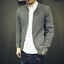 2016 Men's new spring autumn Slim sport man jacket cardigan outerwear male baseball golf coat clothing zipper sweaters