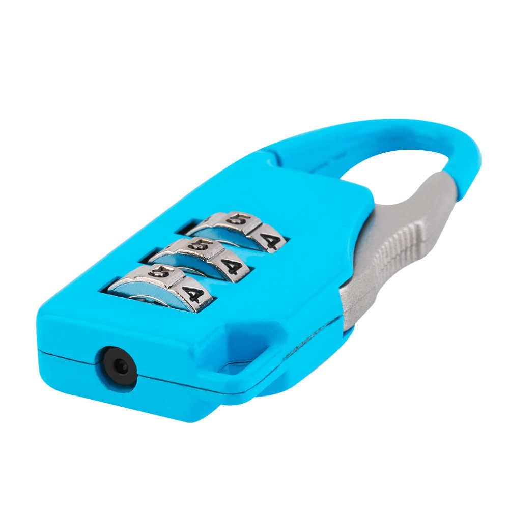 1 PC Keamanan 3 Kombinasi Perjalanan Paduan Seng Tas Koper Bagasi Kotak Perhiasan Alat Dada Kode Lock Zipper Gembok Panas