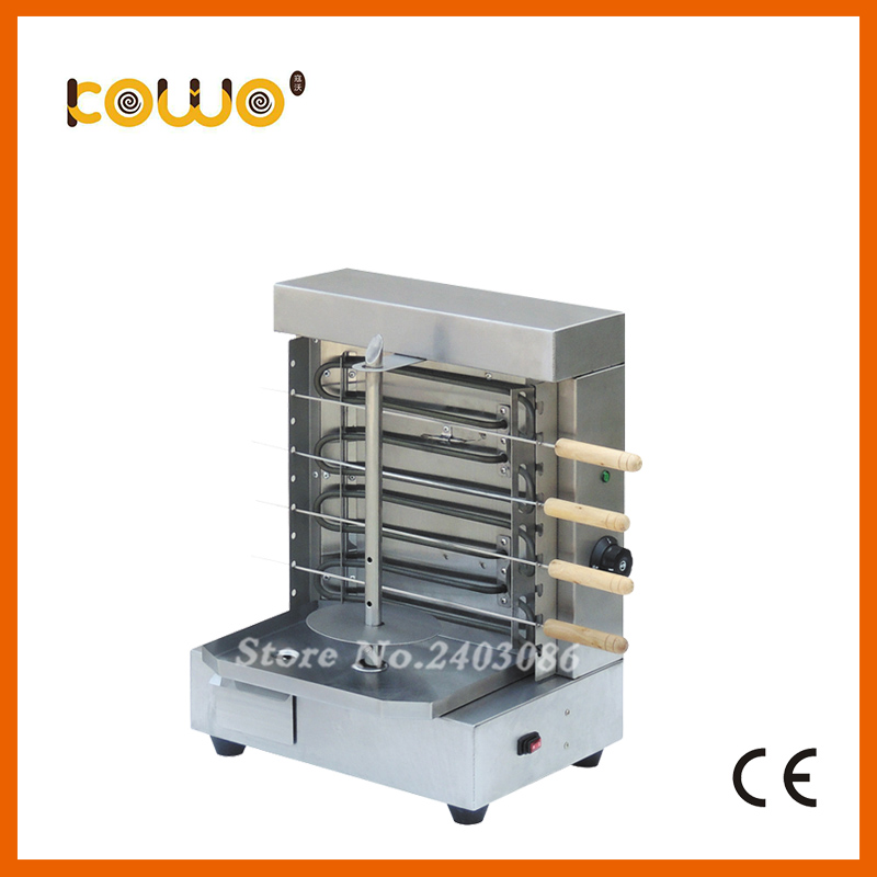 Strong stainless steel 4 skewers electric doner kebab machine ce RoHS 4kw kebab grill meat shawarma machine food processors fast delivery automatic electric doner kebab slicer for shawarma kebab knife kebab slicer gyros knife gyro cutter