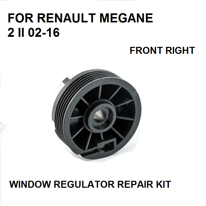2002-2016 FOR RENAULT MEGANE 2 II WINDOW REGULATOR PULLEY ROLLER FRONT RIGHT REPAIR KIT NEW