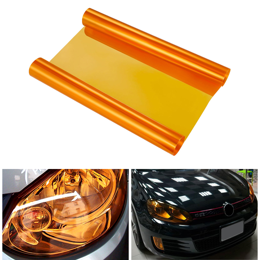30x100cm Car Headlight Tail Light Tint Film Vinyl Wrap Sticker Decal Protector