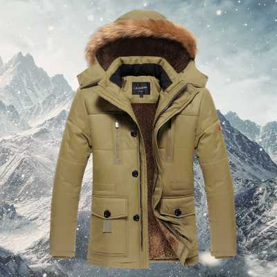 New 2016 Slim Fit White Duck Jacket Men Thick Warm Parkas Middle Age Father Winter Coat Plus Size 5XL A4225 цены онлайн
