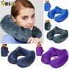 Automatic Inflatable U Shape Pillow 3D Hump Portable Memory Foam Neck Head Travel Nursing Neck Pillows