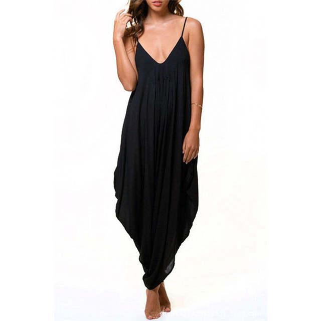 magasin en ligne f1acd 1e172 2019 Long body mode été femmes Harem barboteuse Combinaison Femme  Combinaison élégante combinaisons combishort Macacao vêtements