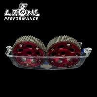 Lzone alumínio cam gear + cam capa para 2jz gte supra  gs300  is300 jr6531r + 6332 cam cover lzone racing cam gears -
