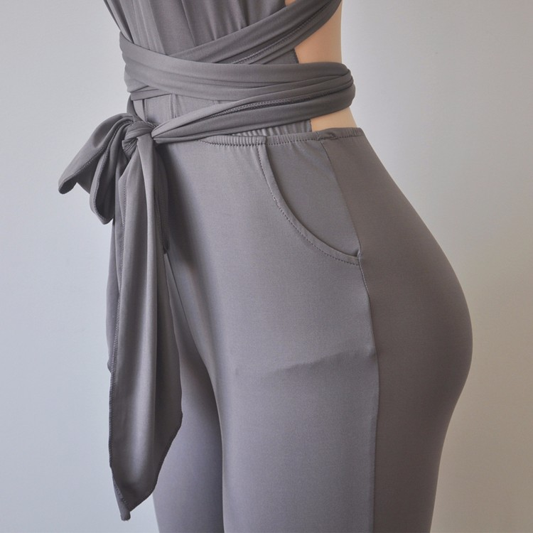 Grey elegant jumpsuit 3