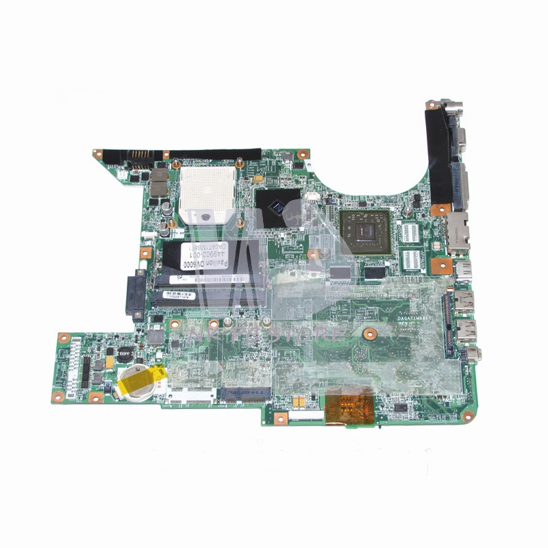 449902-001 Main Board For Hp DV6000 DV6500 DV6600 Laptop Motherboard Socket s1 DDR2  8400M with Free CPU DA0AT1MB8F1 big togo main circuit board motherboard pcb repair parts for nikon d610 slr