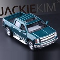 High Simulation Exquisite Diecasts&Toy Vehicles KiNSMART Car Styling Chevrolet Silverado Pickup Truck 1:46 Alloy Diecast Model