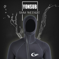 Semi Dry 5mm Neoprene Scuba Diving WetSuit Surfing Suit With Hood