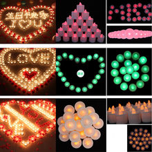 1 pcs Flameless Candles Amber Decorative Led Electronic Candle
