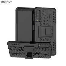 For Samsung Galaxy A7 2018 Case Hard PC Silicone Armor Anti-knock Cover