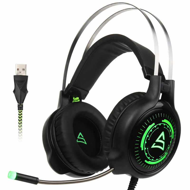 c259553145a SUPSOO G815 Gaming Headset Best casque 7.1 Surround Sound USB Wired  Headphones with Microphone Volume Control